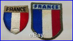 WWII WW2 Original Free French Grouping 2e DB, 1st Army + US Trained Patches