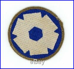 WWII WW2 US Army 6th Service Command OD Border patch SSI