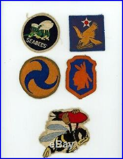 WWII WW2 US Army and AAF patch lot