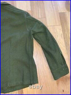 WWII era US Army THICK wool shirt NAMED 517th PIR Airborne Infantry PATCH ATTACK
