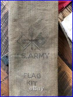 WWI U. S. Army Signal Corps Flag Kit Semaphore Flags WW1 WWII