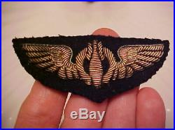 WWI, WWII Silver Bullion US Army Air Force Bombardier Wings High Relief 3.5 RARE