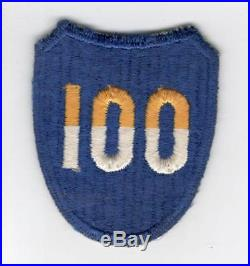 WW 2 US Army 100th Infantry Division Reversed Color 100 Patch Inv# C329