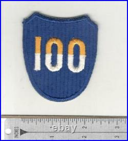 WW 2 US Army 100th Infantry Division Reversed Color 100 Patch Inv# N061