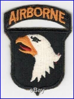 WW 2 US Army 101st Airborne Division Greenback Patch Attached Tab Inv# H491
