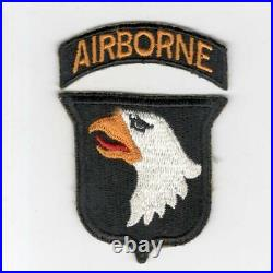 WW 2 US Army 101st Airborne Division Greenback Patch & Tab Inv# H617