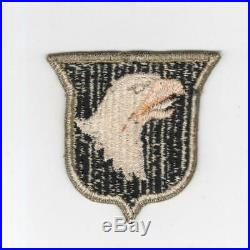WW 2 US Army 101st Airborne Division OD Border Ribbed Weave Patch Inv# H733