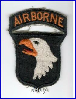 WW 2 US Army 101st Airborne Division Patch & Attached Tab Inv# A681