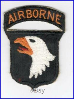 WW 2 US Army 101st Airborne Division Patch & Attached Tab Inv# V631