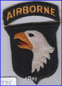 WW 2 US Army 101st Airborne Division Patch & Correct Tab Inv# 975