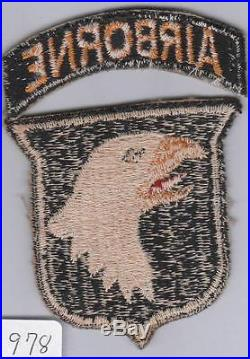 WW 2 US Army 101st Airborne Division Patch & Correct Tab Inv# 978