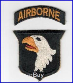 WW 2 US Army 101st Airborne Division Patch & Correct Tab Inv# F668