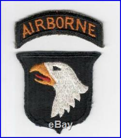 WW 2 US Army 101st Airborne Division Patch & Correct Tab Inv# F669