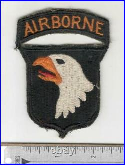 WW 2 US Army 101st Airborne Division Patch With Attached Tab Inv# N353