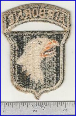 WW 2 US Army 101st Airborne Division Patch With Attached Tab Inv# W715