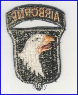 WW 2 US Army 101st Airborne Division Patch with Attached Tab Inv# R039
