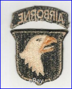 WW 2 US Army 101st Airborne Division White Tongue Patch & Correct Tab Inv# R037