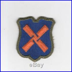 WW 2 US Army 12th Corps OD Border Greenback Patch Inv# G979