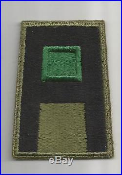 WW 2 US Army 1st Army DEM or DEML Greenback Patch Inv# A370