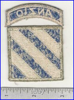 WW 2 US Army 3rd Infantry Division Patch & Anzio Tab Inv# C226