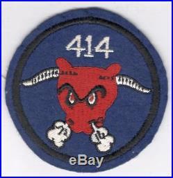 WW 2 US Army 414th Engineer Battalion Wool Patch Inv# Y859
