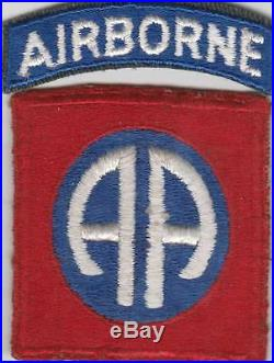 WW 2 US Army 82nd Airborne Division Greenback Patch and Tab Inv# JQ502