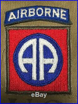 WW 2 US Army 82nd Airborne Division OD Border Patch Tab No Glow Cut Edge