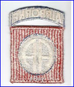 WW 2 US Army 82nd Airborne Division Ribbed Weave Patch Inv# A662