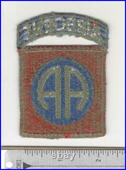 WW 2 US Army 82nd Airborne Greenback Patch & Attached Tab Inv# N290