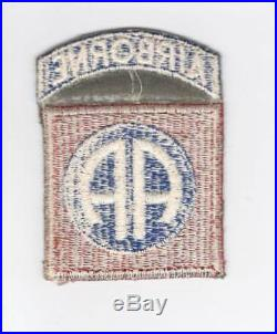 WW 2 US Army 82nd Airborne Patch Attached Tab Inv# C889