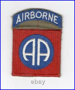 WW 2 US Army 82nd Airborne Patch Attached Tab Inv# C891