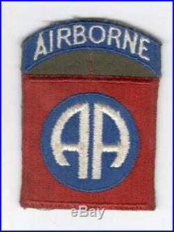 WW 2 US Army 82nd Airborne Patch Attached Tab Inv# V618