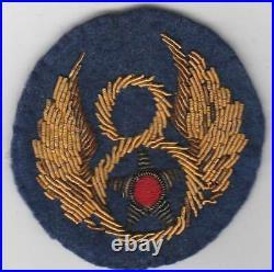 WW 2 US Army 8th Air Force Bullion Patch Inv# F310