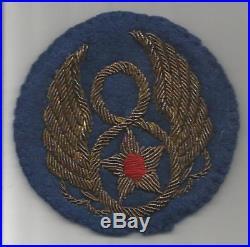 WW 2 US Army 8th Air Force Bullion Patch Inv# JR578