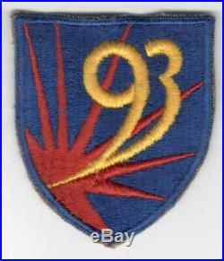 WW 2 US Army 93rd Chemical Mortar Battalion Patch Inv# Z896