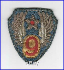 WW 2 US Army 9th Air Force Bullion Patch Inv# M699