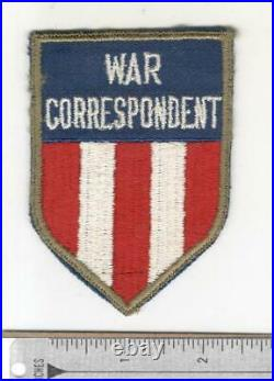 WW 2 US Army & AAF CBI China Burma India War Correspondent Patch Inv# N474