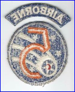 WW 2 US Army AF 5th Air Force Airborne Rescue Patch With Correct Tab Inv# M105