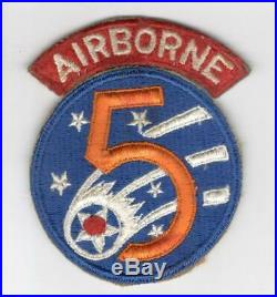 WW 2 US Army AF 5th Air Force Airborne Rescue Patch With Correct Tab Inv# M692