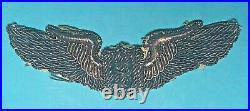 WW 2, US Army Air Corps Service Pilot Wing, CBI Made, Bullion, Exc Cond, #6