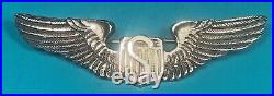 WW 2, US Army Air Corps Service Pilot Wing, CBI Made, Silver, Exc. Cond, #15