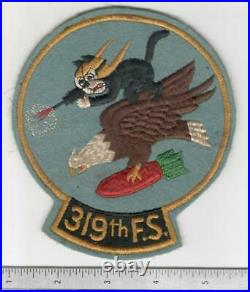 WW 2 US Army Air Force319th Fighter Squadron 6 Tall Patch Inv# B651