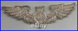 WW 2 US Army Air Force 3 Bombardier Bullion Wings Inv# F291