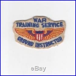 WW 2 US Army Air Force War Training Service Ground Instructor Patch Inv# G957