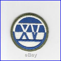 WW 2 US Army XV 15th Corps Patch Inv# H724