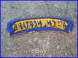 WW 2 US Army rare orig ww2 made italian 84 th cml bn mortor patch