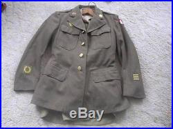 WW II Complete U S Army Uniform with Indochina Patch Jacket-Pants-Shirt-2 Hats+++