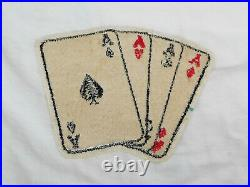 WW II US ARMY 152nd Engineers COMBAT CARDS PATCH Wool 4 Aces RARE