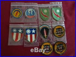 WW II US ARMY Unit Shoulder Patches (obscure units) group of 10
