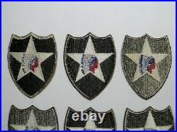 World War 2 US Army 2nd Infantry Division Patches Lot of 6 Indianhead Patches
